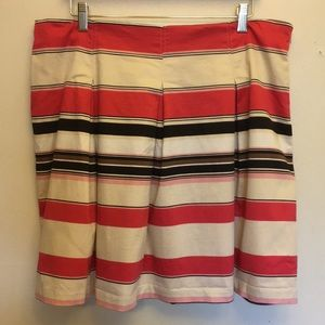 NY&C Striped Skirt with Pleats Size 16